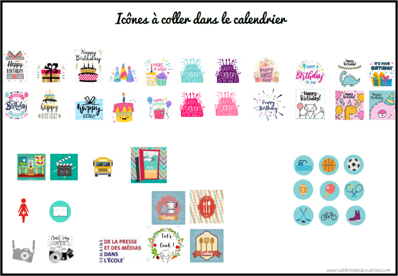 Calendrier 2019 2020 Ecole.Calendrier 2019 2020 Tablettes Pirouettes