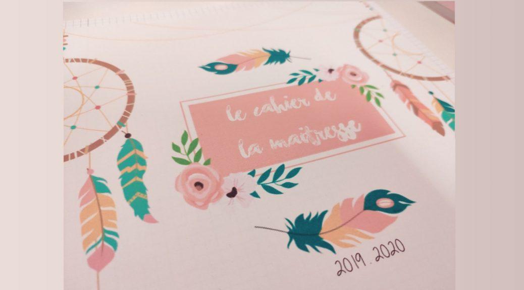 Calendrier Scolaire 20202019 A Imprimer.Le Cahier De La Maitresse 2019 2020 Tablettes Pirouettes
